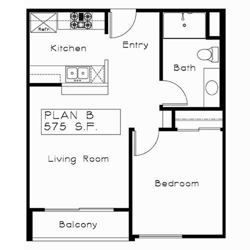 Plan B floor plan