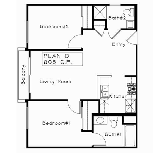 Plan D floor plan